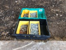 Quantity assorted nuts and bolts