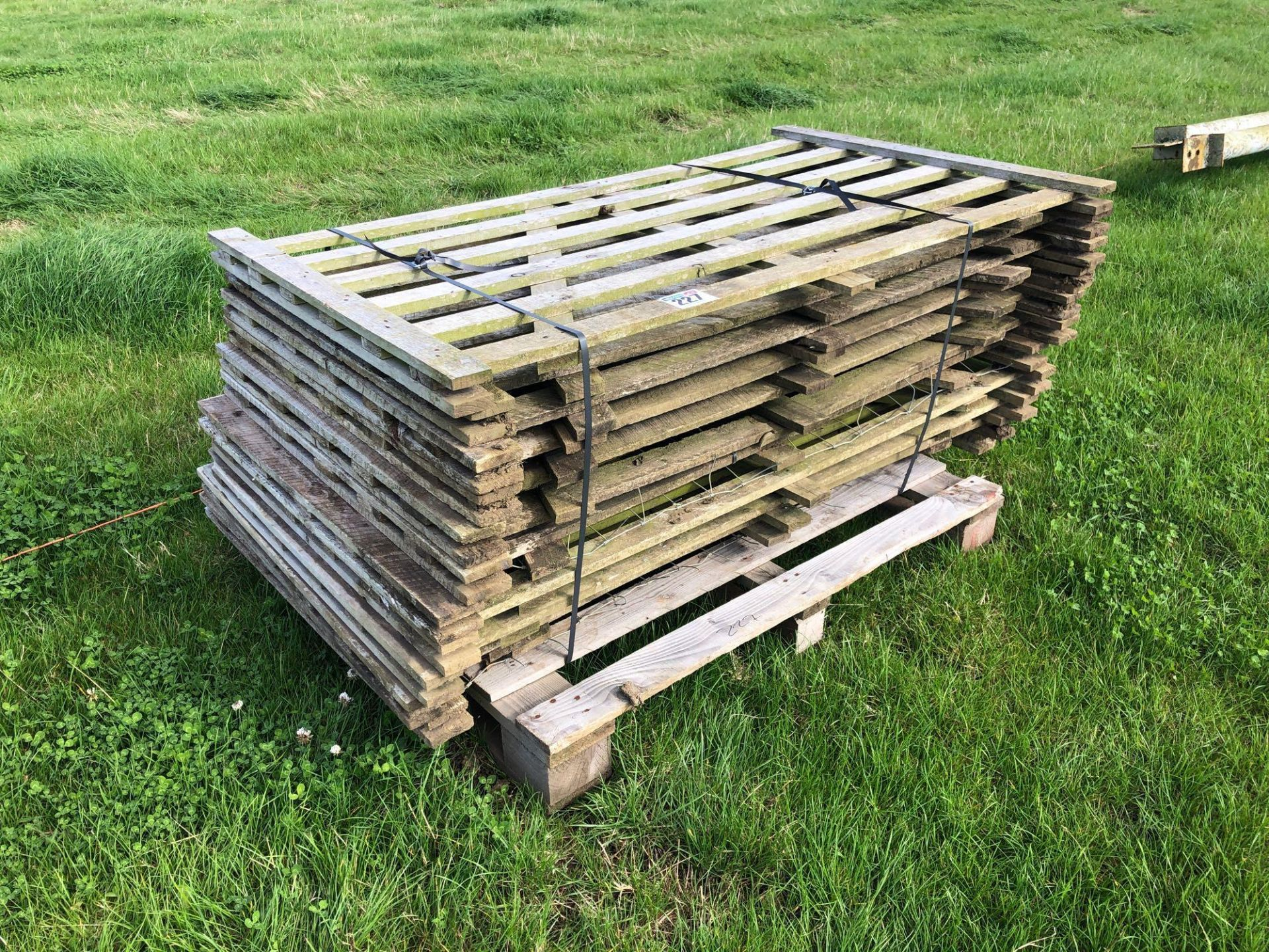*Quantity of wooden hurdles.VAT Payable on this lot