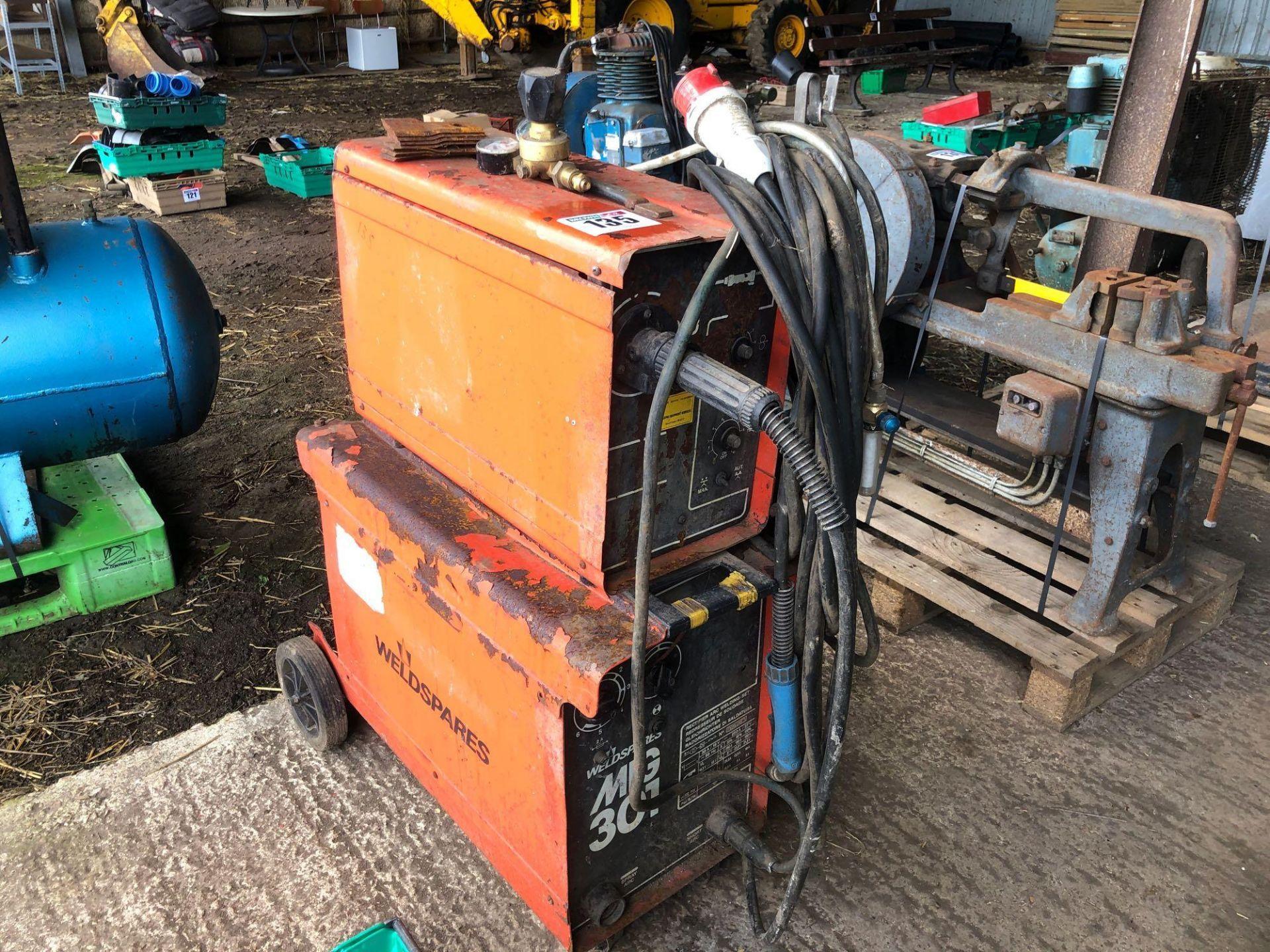 Lot 135 - Weldspare 301 MIG welder, single phase