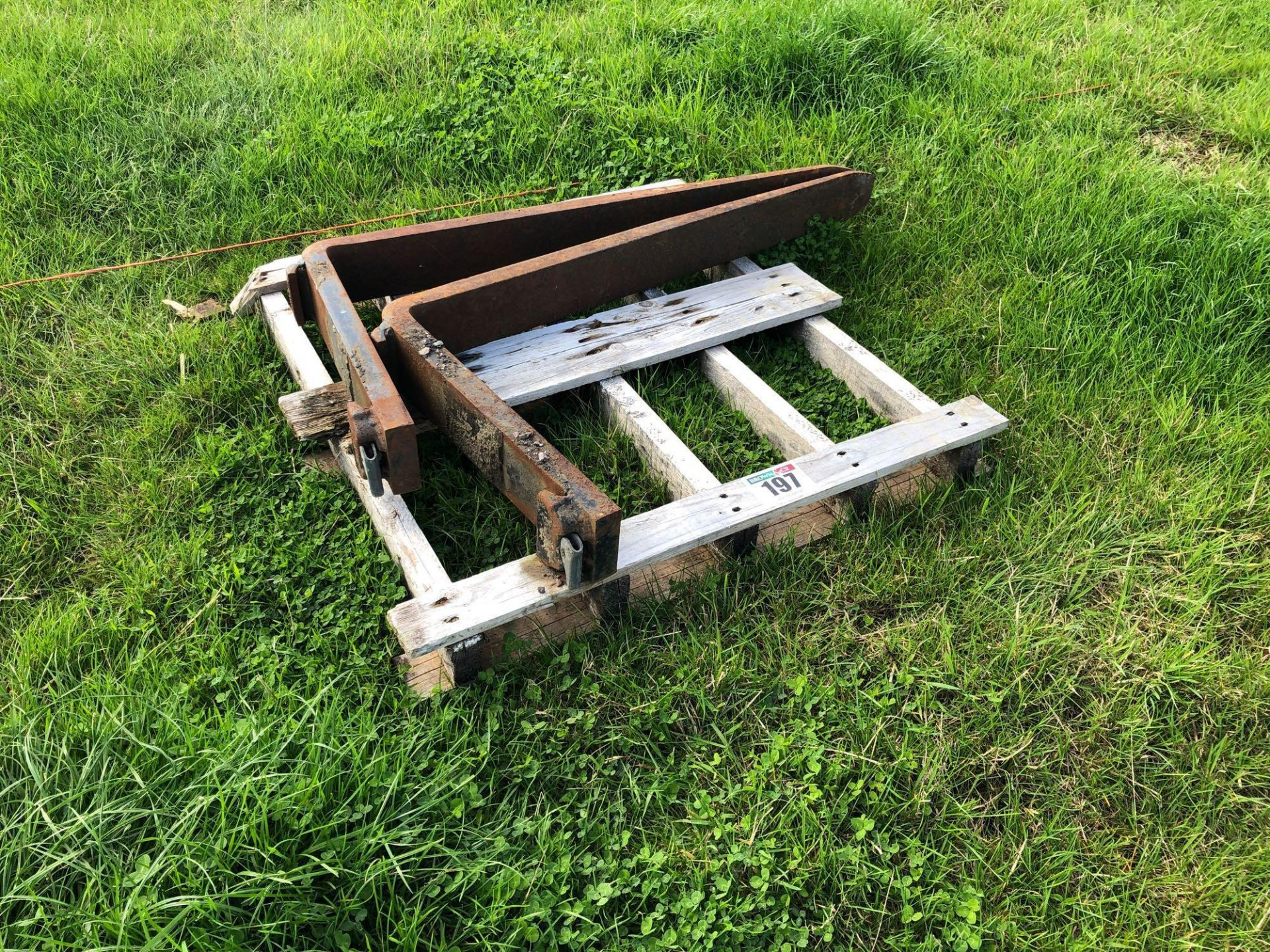 Lot 197 - Pallet tines
