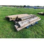 Quantity of wooden posts