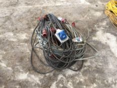 Quantity extension cables, 3 phase