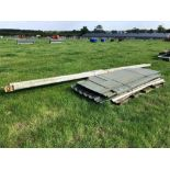 Quantity tin sheeting and metal posts