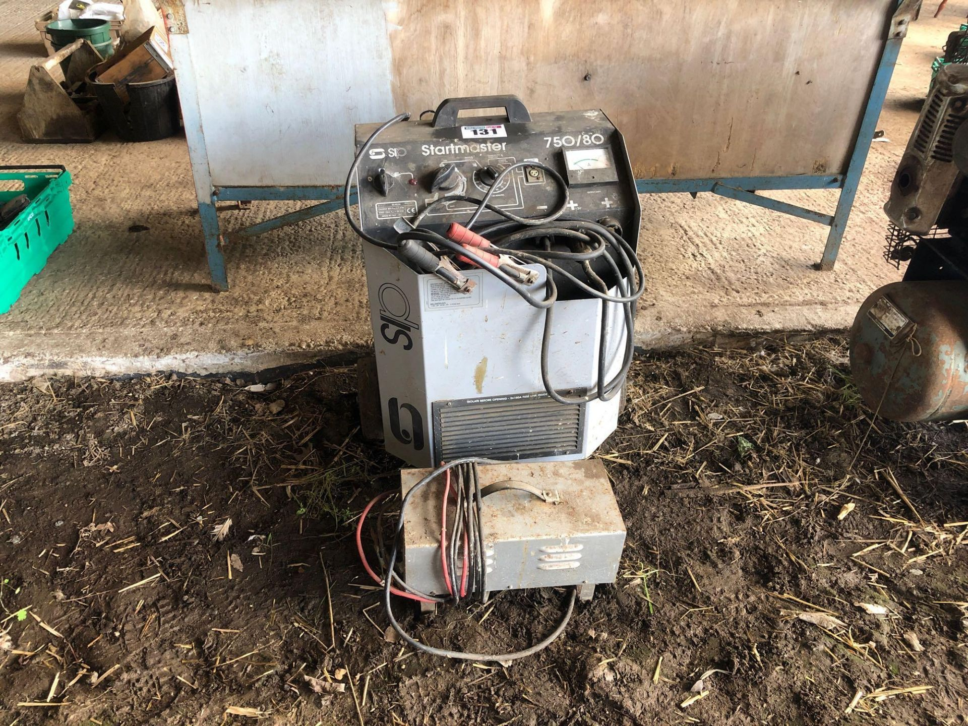 Lot 131 - *SIP Startmaster 750/80 battery charger, 3 phase and surplus battery charger.VAT Payable on this lo