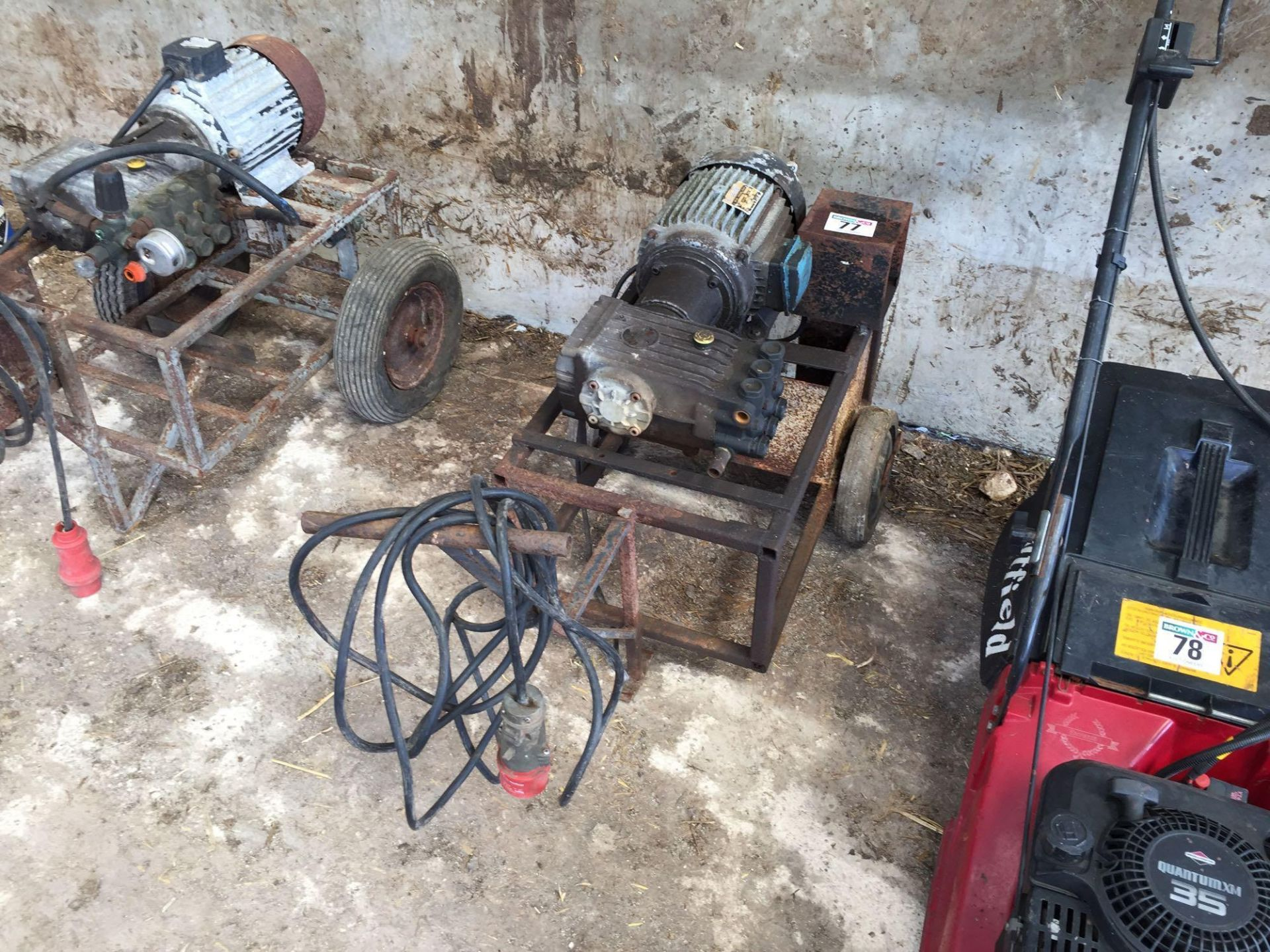 Lot 77 - Pressure washer, 3 phase