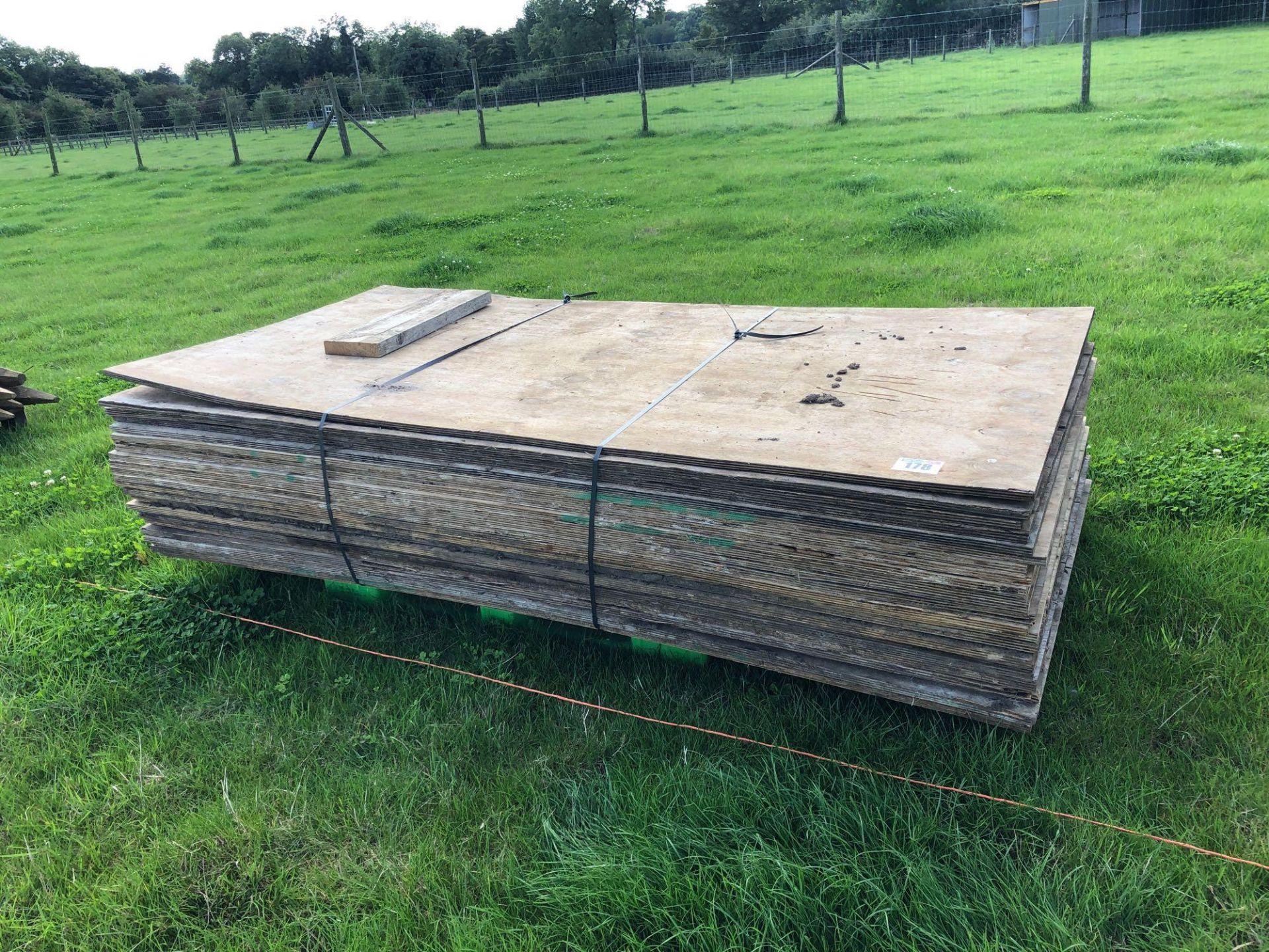 Lot 178 - Quantity plywood sheets