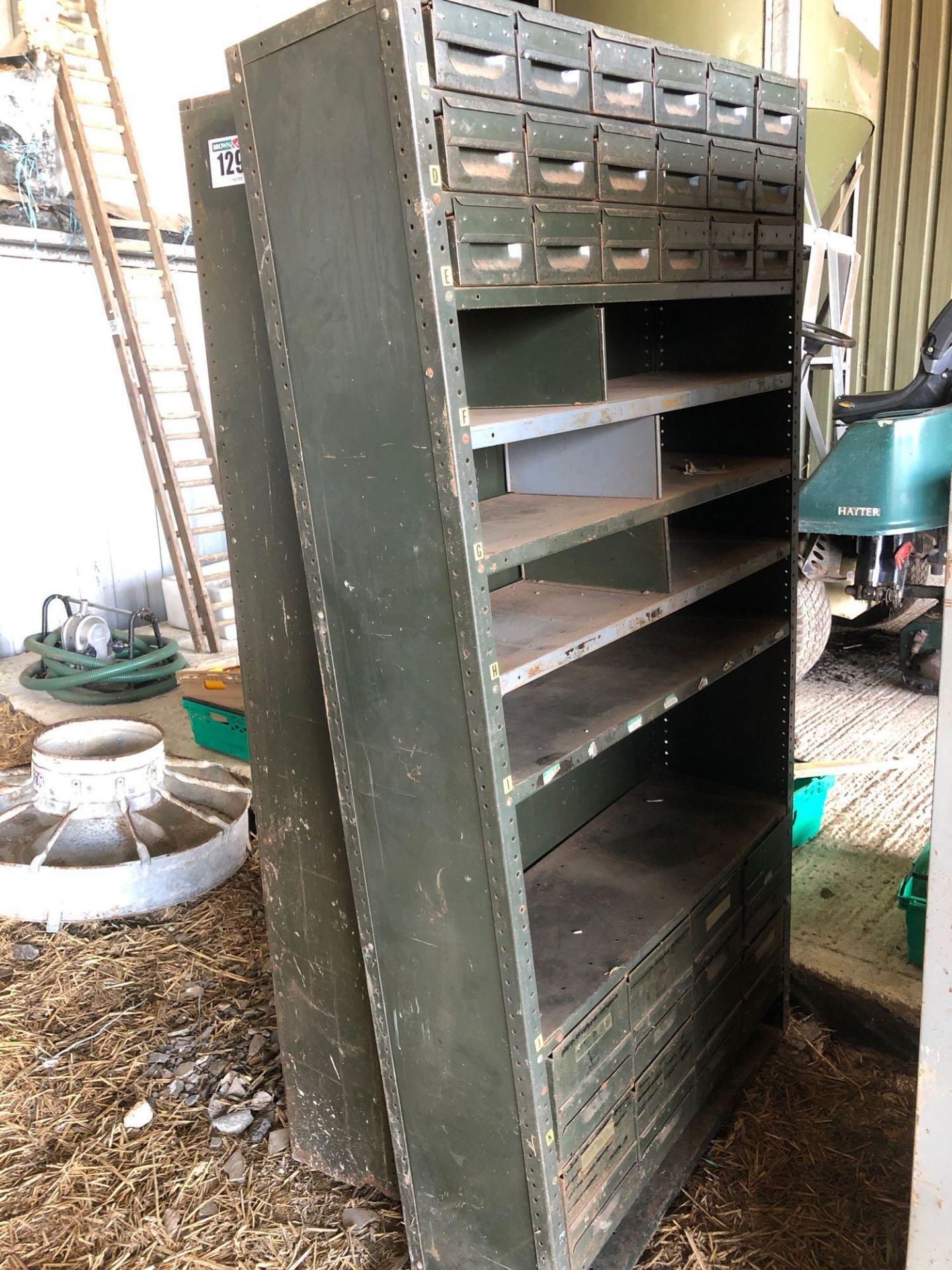 Lot 129 - Quantity shelving units