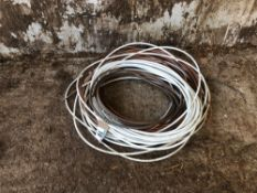 Quantity copper pipe and cabling