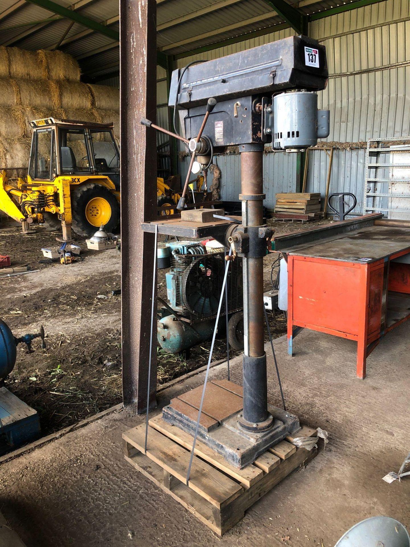 "Lot 137 - Dayton Tradesmen 20"" drill press. Model No: 32919"