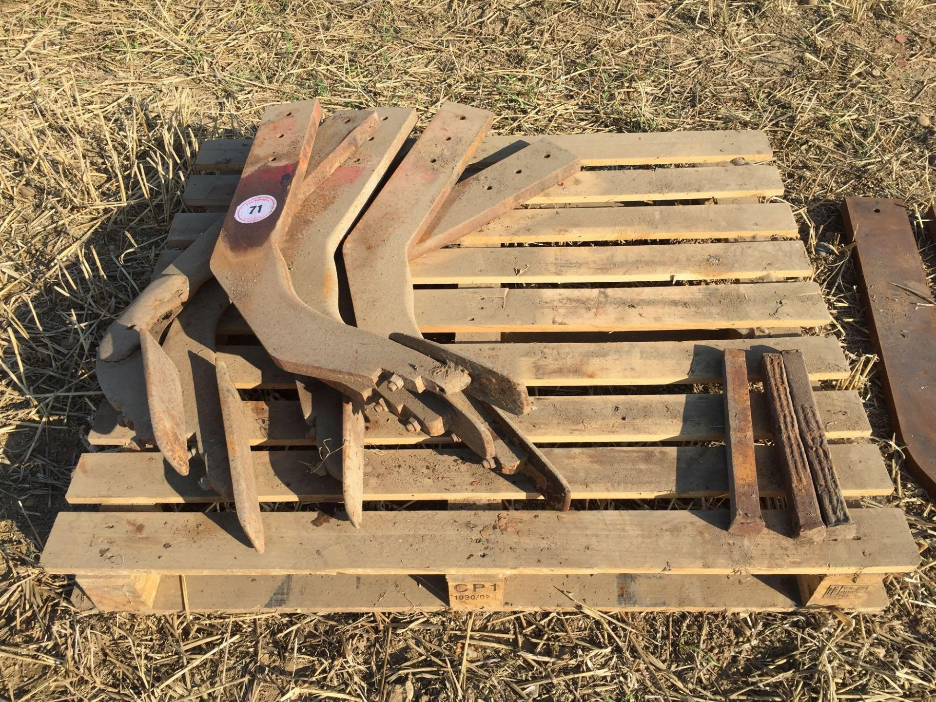 Lot 71 - Quantity chisel plough assembly legs (6)