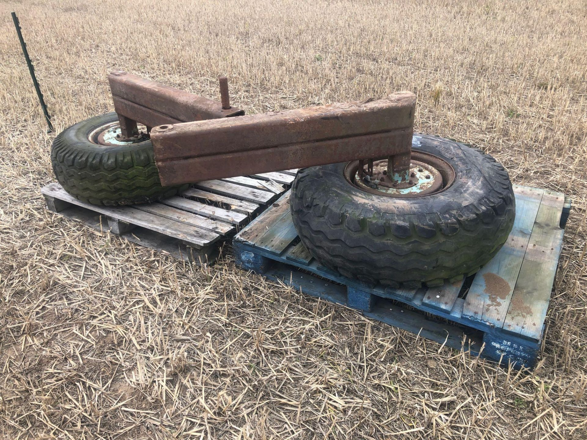 Lot 126 - Chisel plough wheels and tyres (2)