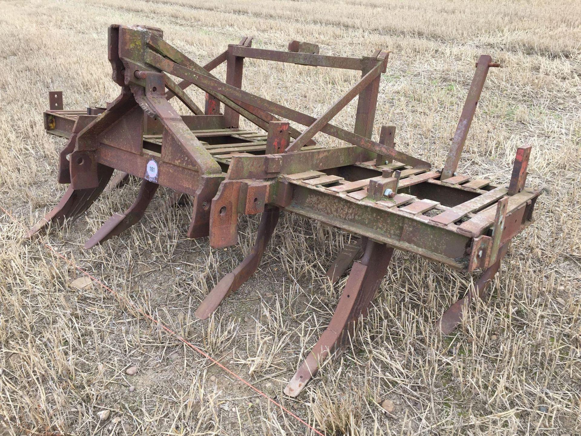 Lot 161 - Chisel plough with tramline eradicator tines