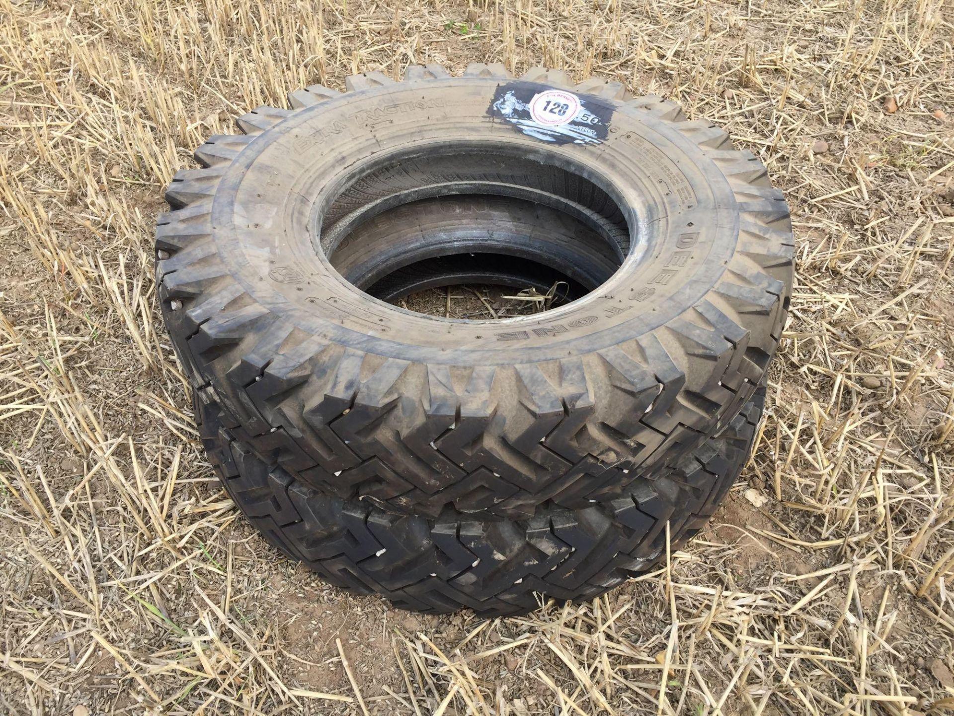 Lot 128 - Pair 7.5-16 Deestone Land Rover tyres