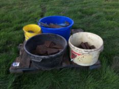 Qty of Ransomes plough spares