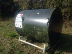 1000L gas oil diesel tank with electric pump and meter. NO VAT.