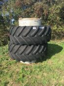 600/65R 34 Stocks dual wheels & clamps