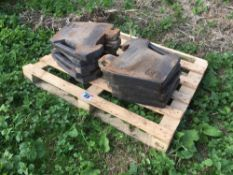 Massey Ferguson weights 10x 4.5kg