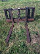 Pallet tines/bale spike for Massey Ferguson loader.NO VAT.
