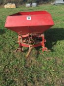 MF10 fertiliser spreader s/n MF10 QBA 6122.NO VAT.