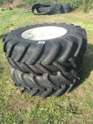 16.9 R28 Michelin wheels for New Holland Case IH