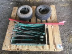 Qty of spares for Kverneland rake including tines