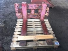 Quicke front loader forklift attachment
