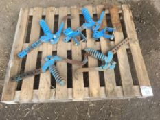 Qty of Lemken power harrow wheel erradicator tines