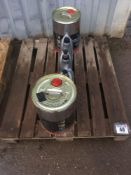 Pallet of transmission oil, engine oil and gear box oil