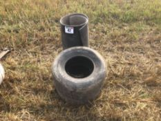 Pair tyres and rubber mat