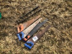 Quantity hand saws and bolt croppers