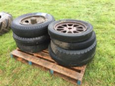 Quantity vintage wheels and tyres