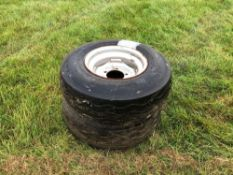 2No. 10.5/85-15.3 wheels and tyres