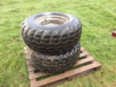 Pair Pneumatic 16-20 wheels and tyres