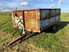 Weeks Plus 40 single axle hydraulic tipping trailer. Serial no: 23716