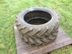 2No 10-28 tyres