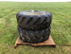 2No. 480/70R30 wheels and tyres with 10 stud centres