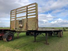 Flat bed trailer 24ft single axle
