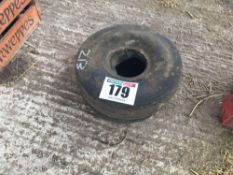 2No. 4.00-4 tyres with tubes
