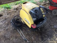 Karcher HDS558C steam cleaner with hoses
