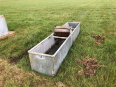 Galvanised water trough