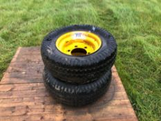 2No. 10.0/75-15.3wheels and tyres