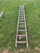 Galvanised 13ft extending ladder