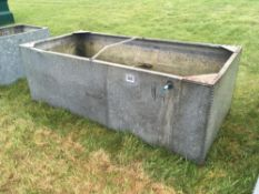 Galvanised water tank