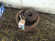 Pulley and washers