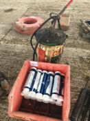 Quantity grease cartridges with Castrol grease can