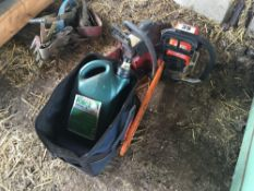 2No. chainsaws with oil and bag. NO VAT