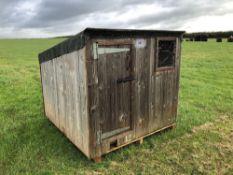 Timber chicken hutch