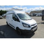 14 reg FORD TRANSIT CUSTOM 310 ECO-TECH EURO 5, LWB, 1ST REG 08/14, TEST 08/21, 110034M WARRANTED,