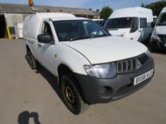 58 reg MITSUBISHI L200 4WORK S/C PICKUP, 1ST REG 09/08, 155379M WARRANTED, V5 HERE, 1 OWNER FROM NEW