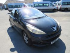 56 reg PEUGEOT 207 SE, 1ST REG 10/06, TEST 09/20, 111404M NOT WARRANTED, V5 HERE, 3 FORMER